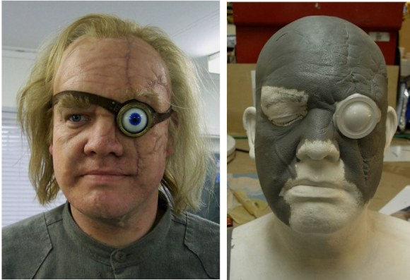 Tony Wests' make up and sculpt as the double