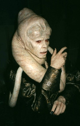 Bib Fortuna on set